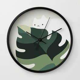 Cat and Plant 12A Wall Clock