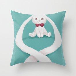 Long-eared Bunny Throw Pillow