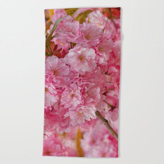 Cherry blossom #4 Beach Towel