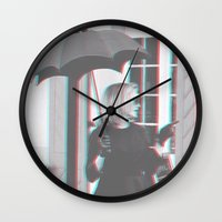 jessica lange Wall Clocks featuring Jessica Lange Fiona Goode Supreme by NameGame