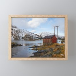 The Red Shed Panorama Framed Mini Art Print