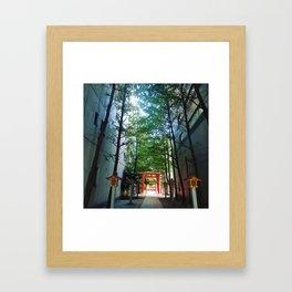 Tokyo: Hidden Temple Framed Art Print