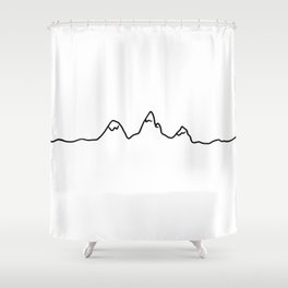 mountains line Shower Curtain