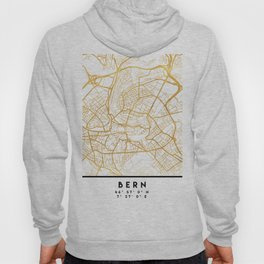 BERN SWITZERLAND CITY STREET MAP ART Hoody