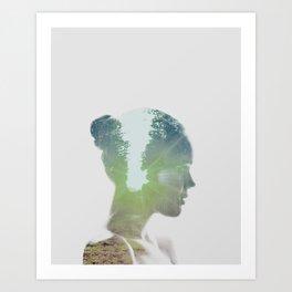 Gone, Girl Art Print