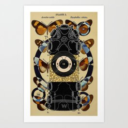 Target Yew 39 - Butterfly Lingam Target Art Print