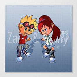 Zack and Ginny (Yo-kai Watch Cosplay) Canvas Print