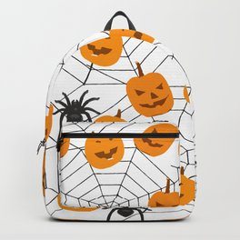 Halloween Pattern Spider Pumpkin Backpack