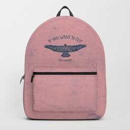 Motivation quote 7 Backpack