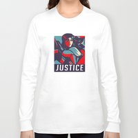 justice Long Sleeve T-shirts featuring Justice by Astrobunny