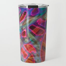 Colorful Abstract Stained Glass G297 Travel Mug