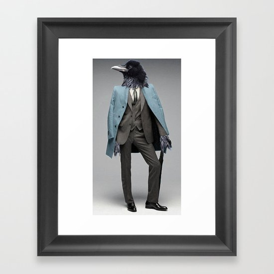 dapper crow Framed Art Print