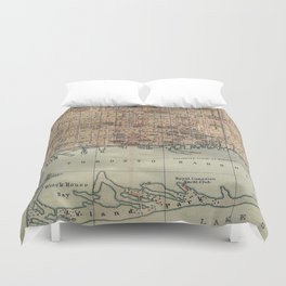 Vintage Map of Toronto (1894) Duvet Cover