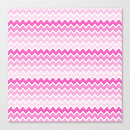Pink Ombre Chevron Canvas Print