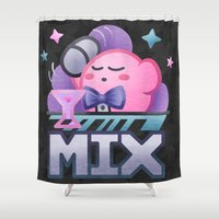 kirby Shower Curtains featuring Kirby Mix by likelikes