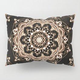 Glowing Spirit Black White Mandala Design Pillow Sham