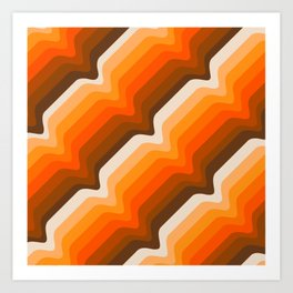 Golden Wave Art Print