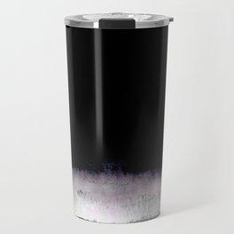black and gray abstract landscape painting Travel Mug