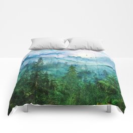 Spring Mountainscape Comforters