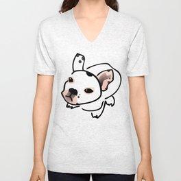 French Bulldog Pup Drawing Unisex V-Neck