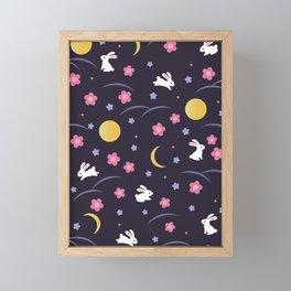 Moon Rabbits V2 Framed Mini Art Print