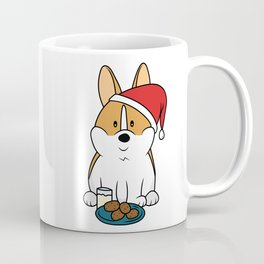 Corgi Santa Milk and Cookies Coffee Mug