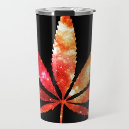 Weed : High Times orange red pink  Galaxy Travel Mug