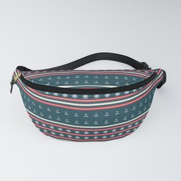 Ships Ahoy Blue/Red Stripe Fanny Pack