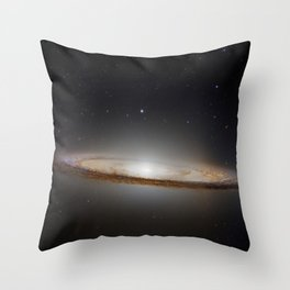 galaxy space stars Hubble Deep Field Sombrero Galaxy Hubble digital space art Throw Pillow