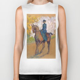 "Henri de Toulouse-Lautrec ""Side-saddle"" Biker Tank"