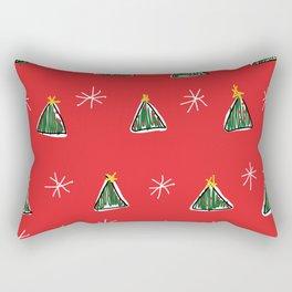 Ugly Christmas Trees Rectangular Pillow