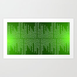 Binary Code Art Print