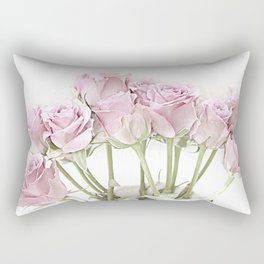 Shabby Chic Pastel Pink Roses Rectangular Pillow