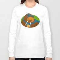 walrus Long Sleeve T-shirts featuring Walrus by subpatch