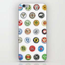 Bottlecaps A to Z iPhone Skin