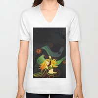 superhero V-neck T-shirts featuring Superhero by Kamiledesigns