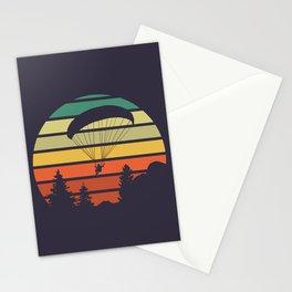 Paragliding Sunset Stationery Cards