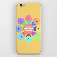 We all Scream for Ice-cream iPhone & iPod Skin