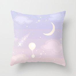 Crystal Skies Throw Pillow