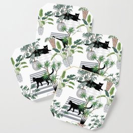 cats in the interior pattern Coaster