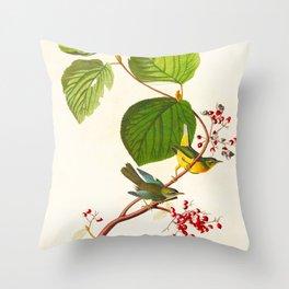 Pine Swamp Warbler Bird Throw Pillow