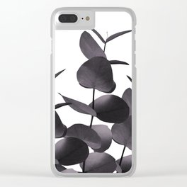 Eucalyptus Leaves Black White #1 #foliage #decor #art #society6 Clear iPhone Case