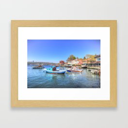 Boats on The Bosphorus Istanbul Framed Art Print