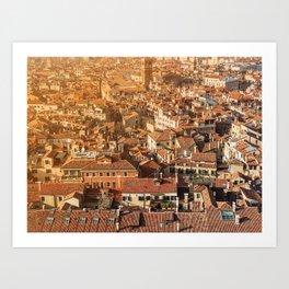 City of orange roofs Art Print
