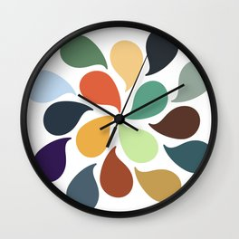 Colorful Water Drops Wall Clock