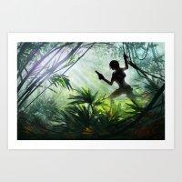 lara croft Art Prints featuring Lara Croft: Tomb Raider by LaraRobsGraves