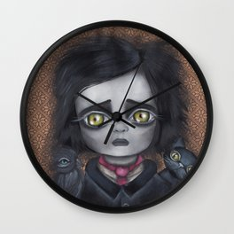 Young Poe Wall Clock