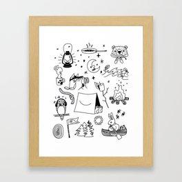 Animals Youth at Summer Camp Framed Art Print
