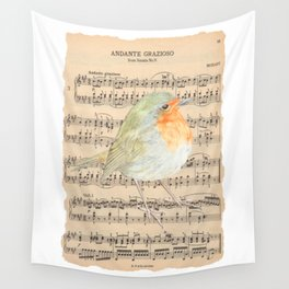 The Sound of a Robin Wall Tapestry