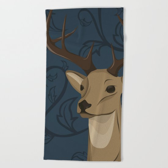 Cervidae Beach Towel
